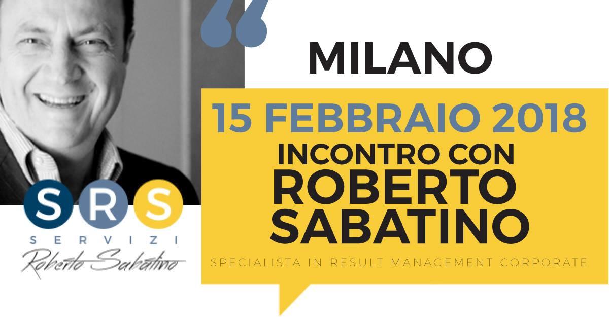 """15 febbraio: Roberto Sabatino a Milano. Tappa del road-show """"Sai già vendere"""""""
